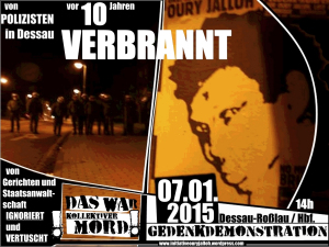 07.01.2015 Bundesweite Demonstration Dessau - 10 Jahre Mord an Oury Jalloh