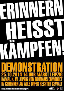 Demonstration am 25.10.2014 in Leipzig.